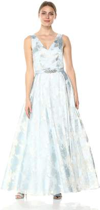 Eliza J Women's Ballgown with Beaded Belt