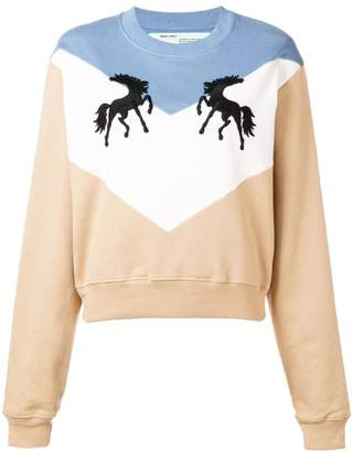 Off-White Twisting Horses sweater