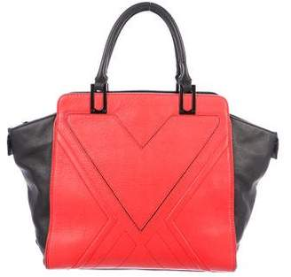 Milly Logan Colorblock Leather Tote Bag