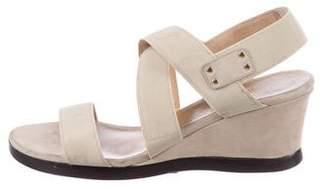 Stuart Weitzman Crossover Wedge Sandals