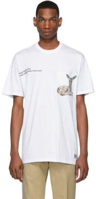 Burberry White Bambi T-Shirt
