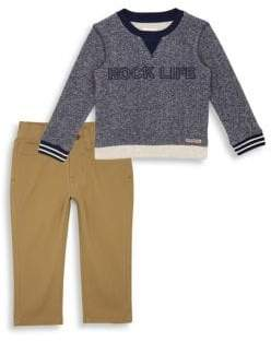 Hudson Jeans Baby Boy's& Little Boy's Two-Piece Rock Life Pullover& Pants Set