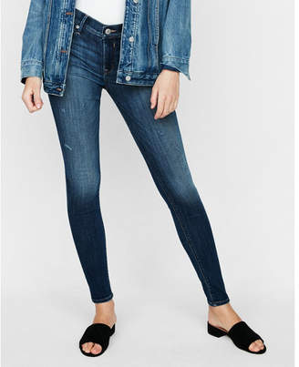 Express mid rise stretch jean leggings