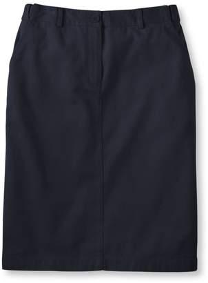 L.L. Bean L.L.Bean Wrinkle-Free Bayside Skirt, Classic Fit Hidden Comfort Waist