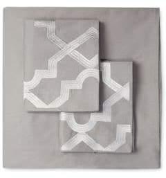 Melange Home Lattice Embroidered Duvet Set