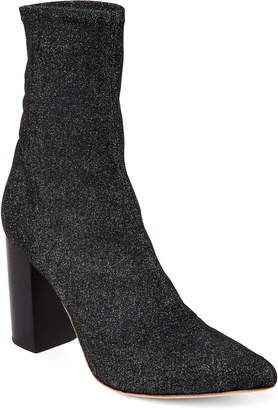 Raye Black Fable Shimmery Stretch Ankle Booties
