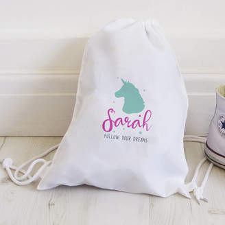Hurley Sarah Personalised Unicorn Follow Your Dreams Bag