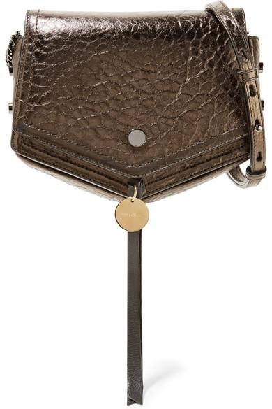 Jimmy ChooJimmy Choo - Arrow Metallic Textured-leather Shoulder Bag - Gunmetal