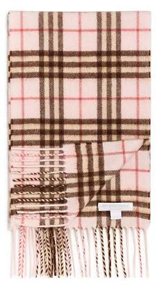 Burberry Girls' Mini Classic Vintage Check Cashmere Scarf