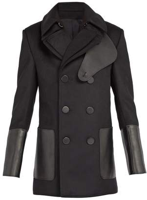Alexander McQueen Double Front Wool Peacoat - Mens - Black