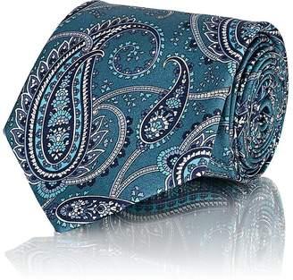 Brioni Men's Paisley Silk Satin Necktie