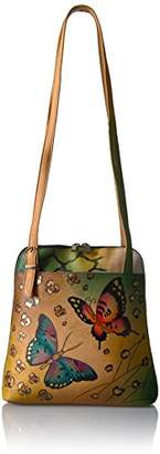 Anuschka Anna by Handpainted Zip Around Satchel Animal Butterfly