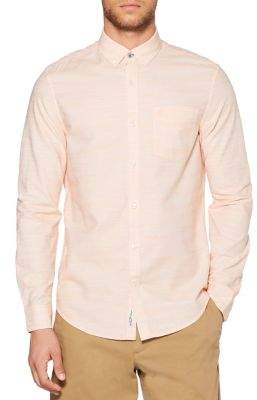 Original Penguin Long-Sleeve Pinstriped Button-Down Shirt