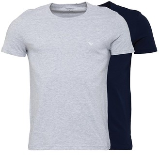Emporio Armani Mens Two Pack T-Shirt Navy/Heather Grey