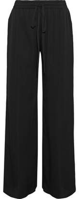 Milly Stretch-Silk Wide-Leg Pants