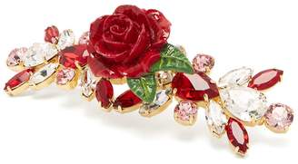 Dolce & Gabbana Rose and crystal hair slide