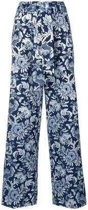 Christian Pellizzari printed straight-leg trousers