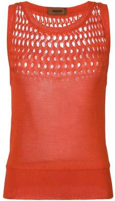 Missoni cut-detail knitted vest