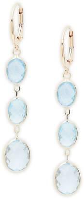 Saks Fifth Avenue Women's Blue Topaz & 14K Gold Drop Earrings