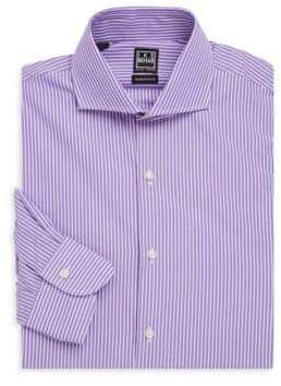 Ike Behar Striped Button-Front Shirt