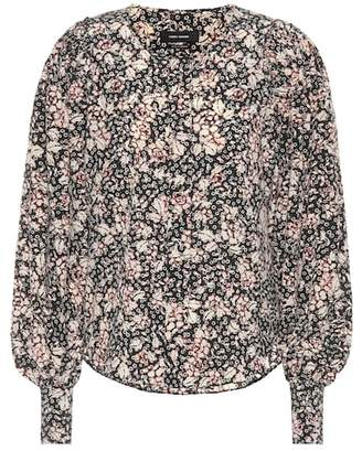 Isabel Marant Berny printed stretch-silk shirt