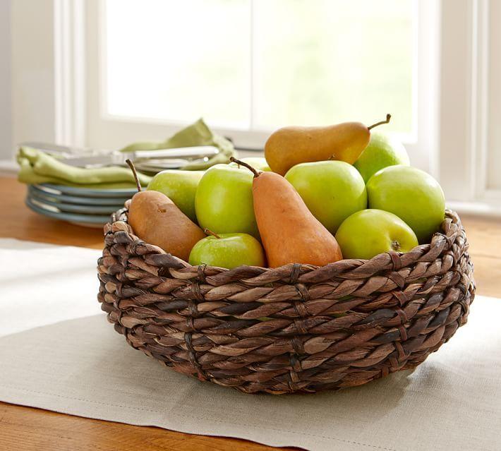 Pottery Barn Chunky Woven Fruit Bowl