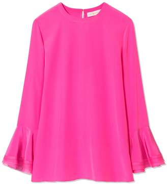 Tory Burch RUFFLE-SLEEVE BLOUSE