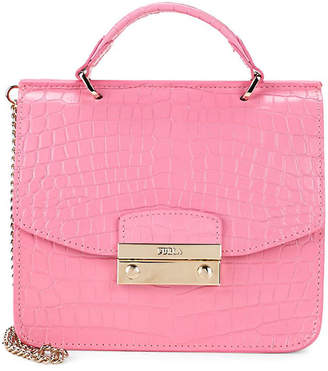 Furla Julia Mini Top Handle Leather Crossbody