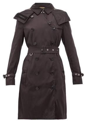 Burberry Kensington Eco Nylon Trench Coat - Womens - Black