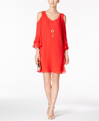 MSK Cold-Shoulder Shift Dress $79 thestylecure.com