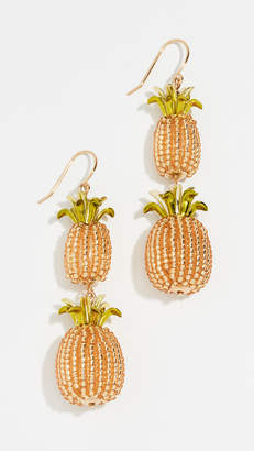 Kate Spade By The Pool Pineapple Double Drop Earrings