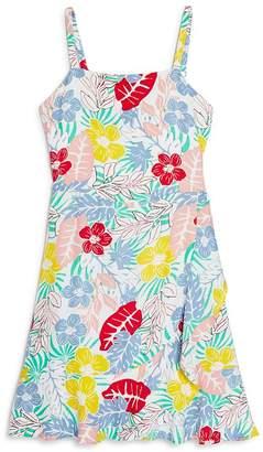 BCBGirls Girls' Floral Print Fit-and-Flare Dress - Big Kid