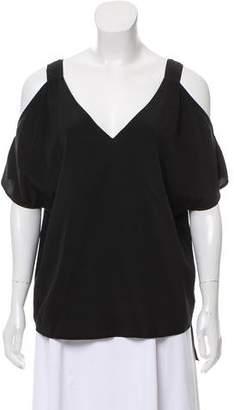Ralph Lauren Off-The-Shoulder Silk Top