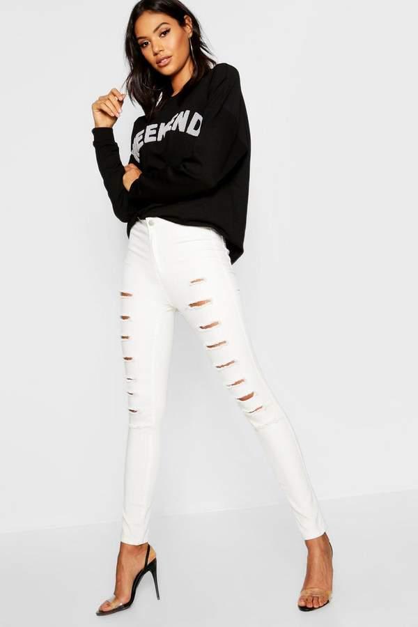 High rise Distressed Skinny Jean