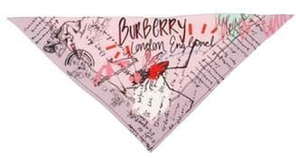 Burberry Bird Sketchbook Silk Necktie