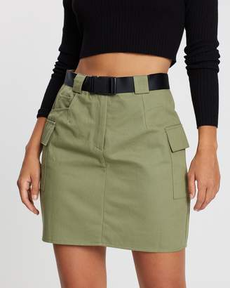 Missguided Belted Utility Skirt