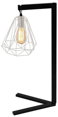 UMA Black\u002FRose Gold Metal Wire Desk Lamp