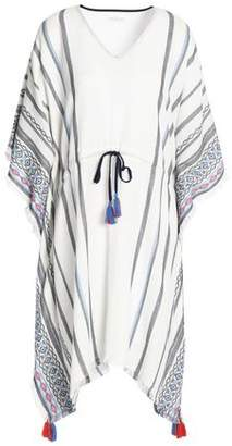 Velvet by Graham & Spencer Adalina Draped Embellished Cotton Tunic