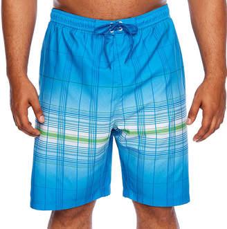 Burnside Plaid Swim Shorts Big and Tall