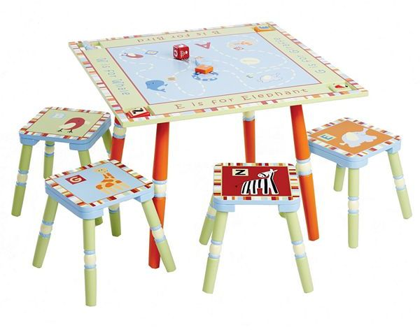 Levels of Discovery Cocalo baby alphabet soup table & stool set