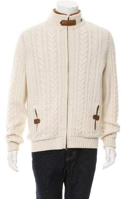 Franck Namani Rabbit Fur-Lined Cashmere Cardigan