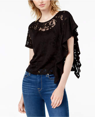 Bar III Burnout Poncho-Sleeve T-Shirt