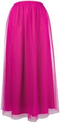 RED Valentino Point d'esprit midi skirt