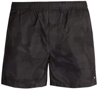 e77be63718464 Valentino Camouflage Print Swim Shorts - Mens - Black