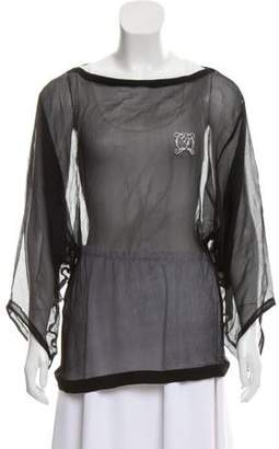 Gianfranco Ferre GF Long Sleeve Sheer Top