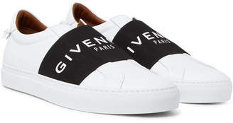 Givenchy Urban Street Leather Slip-On Sneakers - White