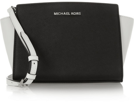 MICHAEL Michael Kors Selma small two-tone textured-leather shoulder bag