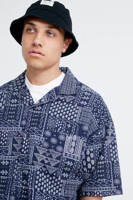 Urban Outfitters Bandana Print Short Sleeve Button-Down Shirt