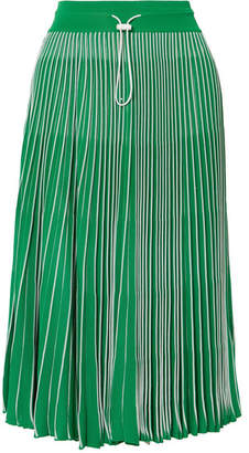 Valentino Plissé Stretch-knit Skirt