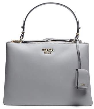 Prada Double Zip Top Handle Shoulder Bag